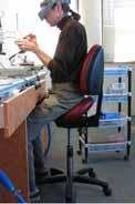 Bambach Saddle Seat in a dental lab
