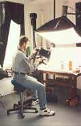 Photographer using a Bambach Saddle Seat