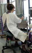 Nurse using a Bambach Saddle Seat