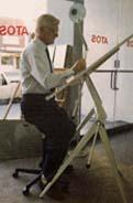 Architect using a Bambach Saddle Seat
