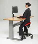 Computer work with a Salli Saddle Stool