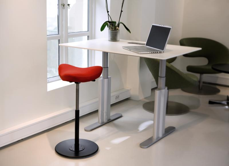 Red Move Stool at the office