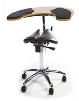 Salli Twin Saddle Chair with Elbow Table